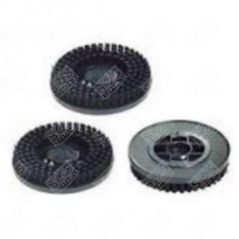 Z6 Lot de 3 brosses noires